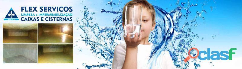 Limpeza e impermeabilização caixas e cisternas