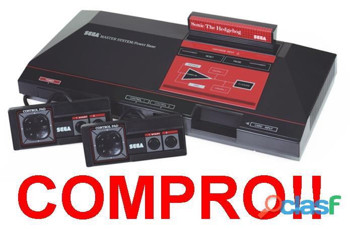 Compro sega master system, tectoy, jogos fitas cartuchos consoles acessórios