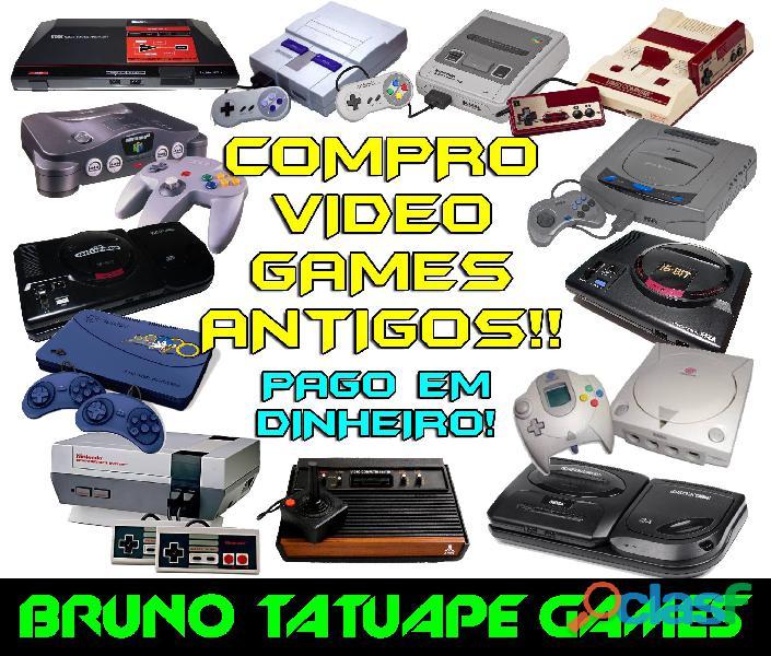 Compro video games antigos: atari sega mega drive master super nintendo n64 nintendinho saturn