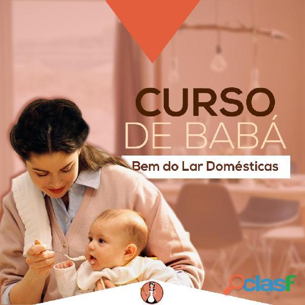 Curso de babá com certificado e encaminhamento para mercado de trabalho