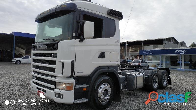 Scania r 124 420 evolução ga 2007 6x2 branca