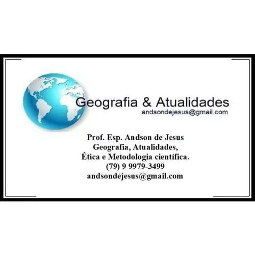 Aulas particulares geografia e atualidades.