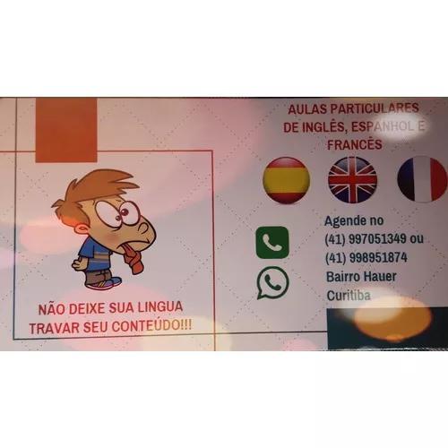 Aulas reforço de inglês, espanhol e francês