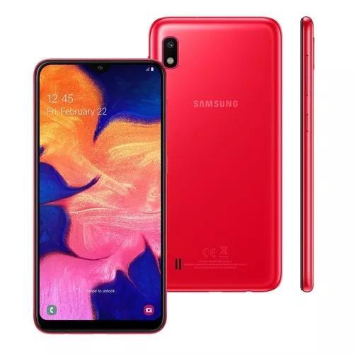 Smartphone samsung galaxy a10 a105m 32gb 13mp vermelho