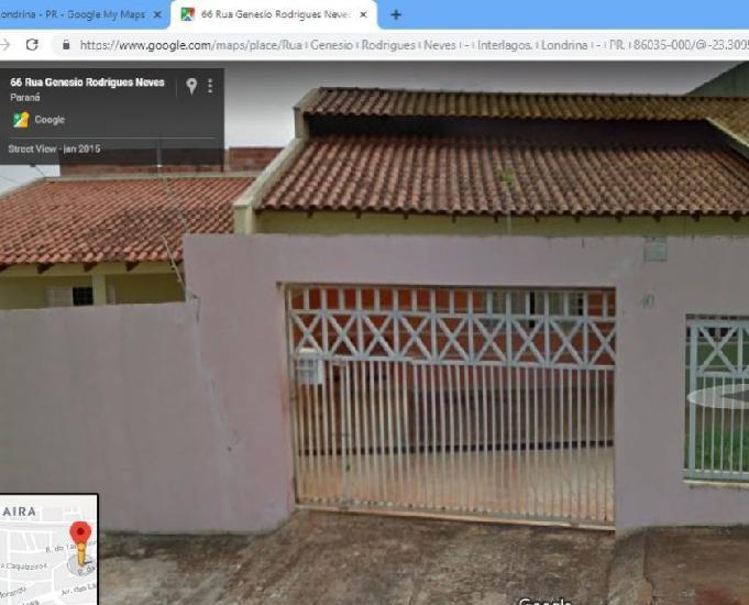 Vendo casa em londrina parana 250 mil preço baixo