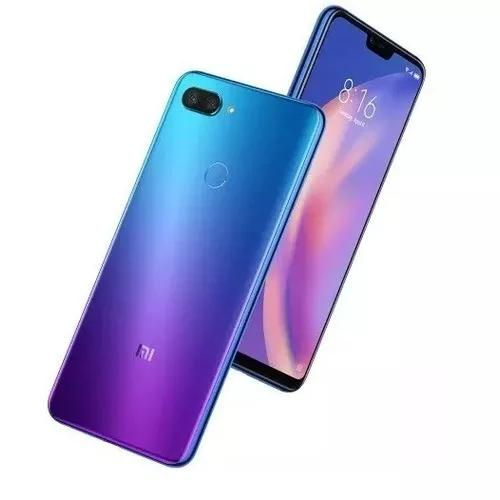 Xiaomi mi 8 lite 128g-6g ram azul + película vidro