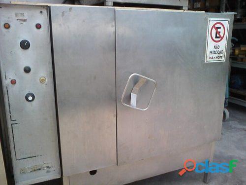 Forno estufa combinado industrial gás 300º c aço inox secagem motores