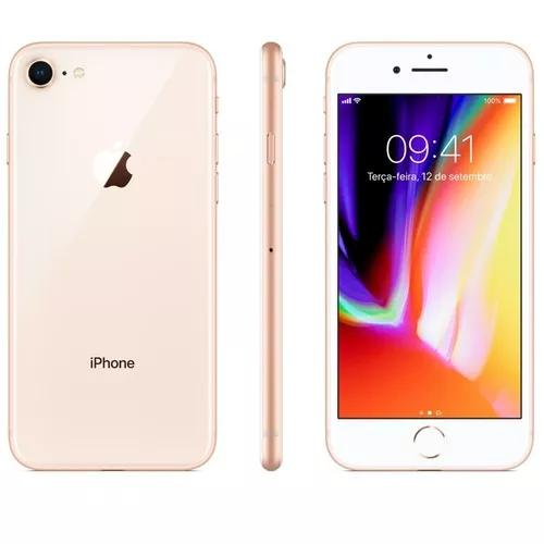 Iphone 8 dourado 64gb, anatel, tela 4,7, lacrado