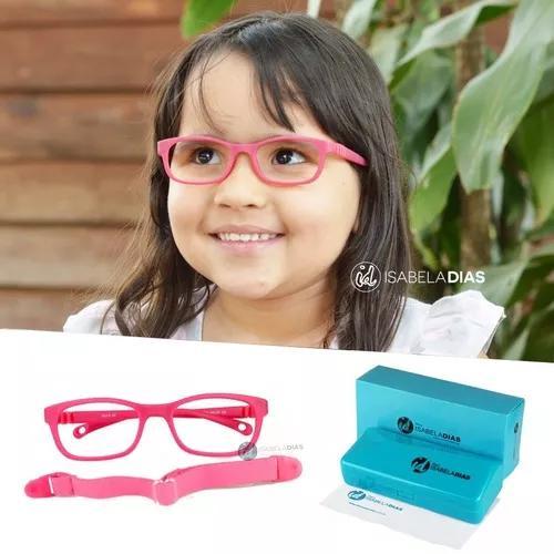 Armação Óculos Grau Criança Infantil Elastico Flexivel