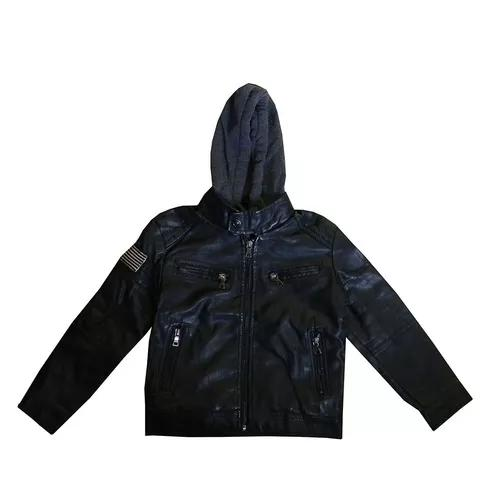 Blusa de frio meninos crianças infantil couro 4 a 12 anos