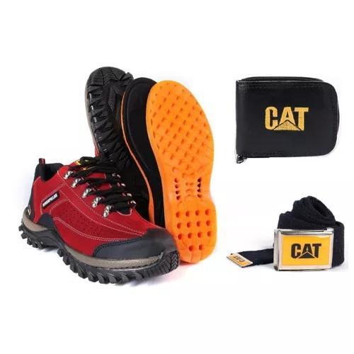 Bota botina coturno caterpillar masculina + kit cat envio ja