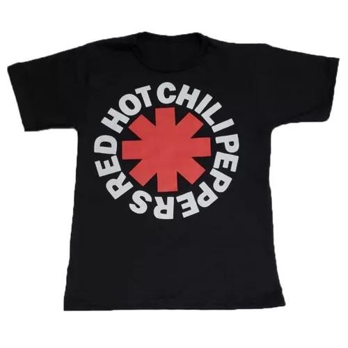 Camisa infantil moda banda rock criança manga curta