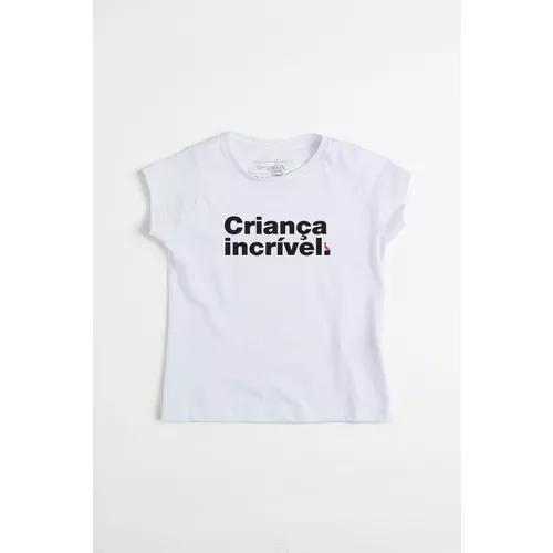 Camiseta menina criança incrível reserva mini