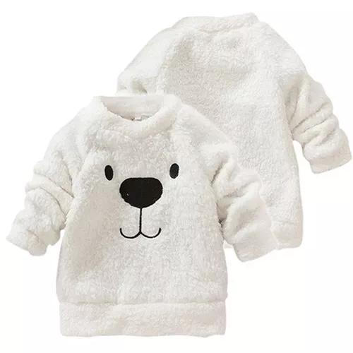 Casaco infantil pelúcia blusa frio pelinho moletom criança