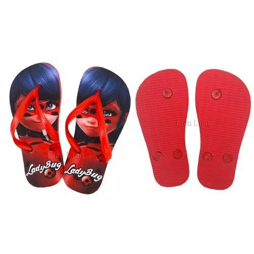 sale retailer 408c3 7e3d1 Chinelo infantil ladybug miraculous sandália menina