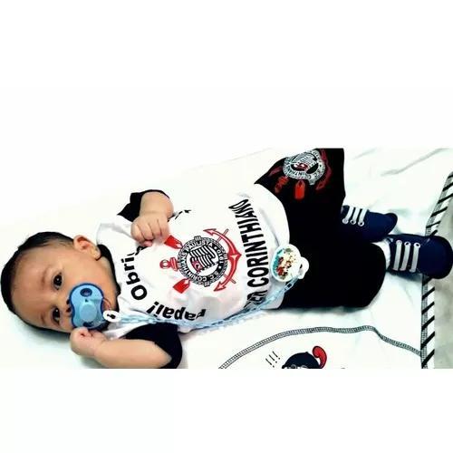 Conjunto para bebê e criança corinthians todo poderoso