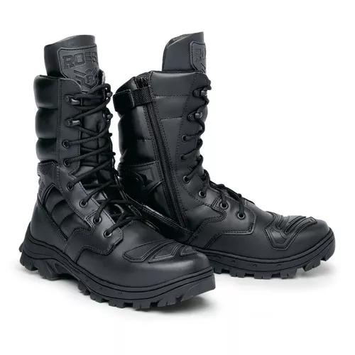 Coturno masculino bota militar rossi c ziper proteção