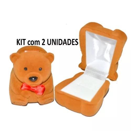Kit 2 estojos caixa veludo infantil criança l
