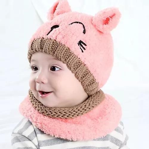 Kit c touca e cachecol bebe criança infantil cr