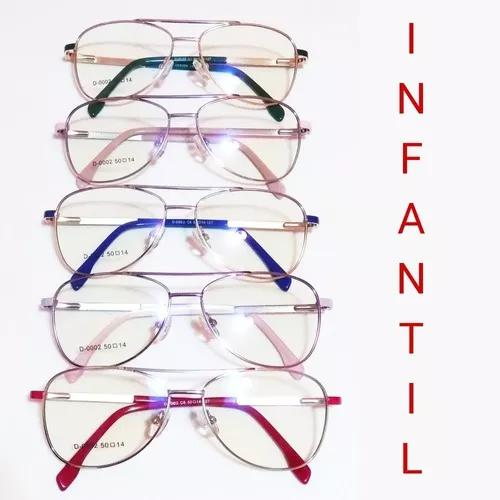 Oculos armação infantil 0002 p/ crianças varias cores +