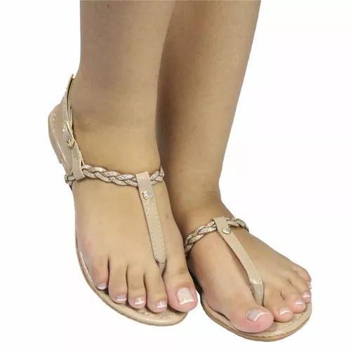 Sandália rasteirinha f