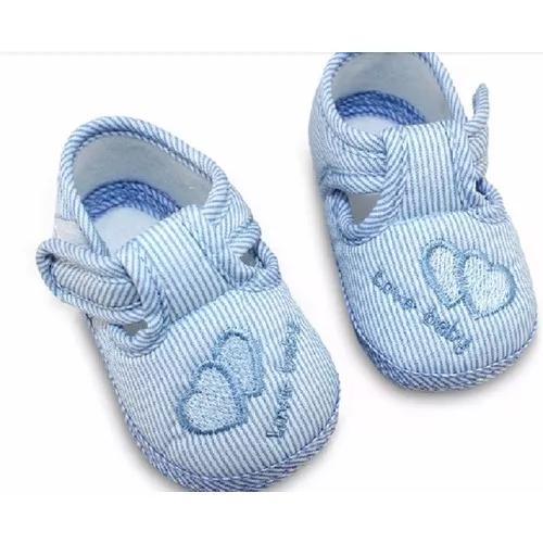 6d369c73a Sapatinhos bebê sapato infantil azul nr.16 menino criança