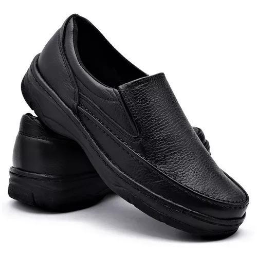 7326fce586945 Sapato couro anti stress masculino ortopédico pés