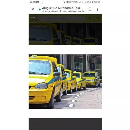 Aluguel autonomia de taxi
