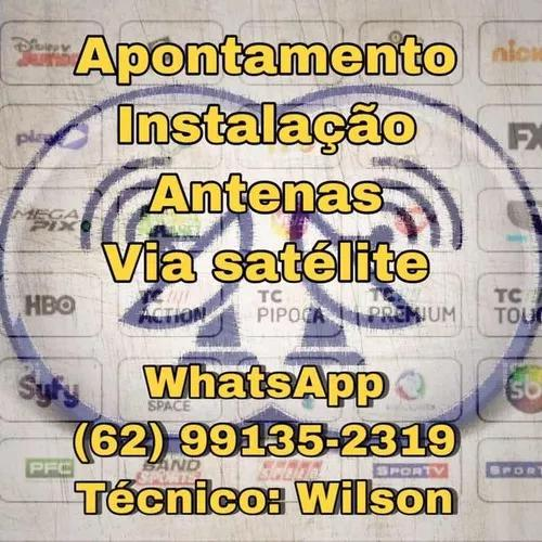 Instalador / manutenção / antenas via satélite