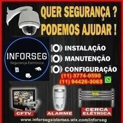 Instalação e manutenção câmeras segurança /alarmes