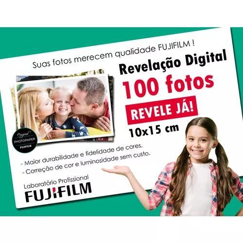 Revelação de 100 fotos digitais 10x15 c/ qualidade