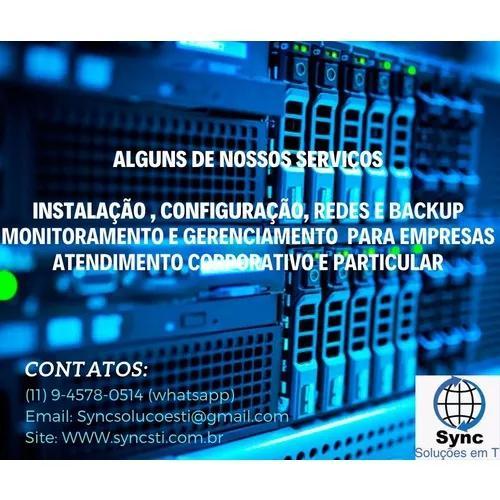 Serviços de infraestrutura instalação backups