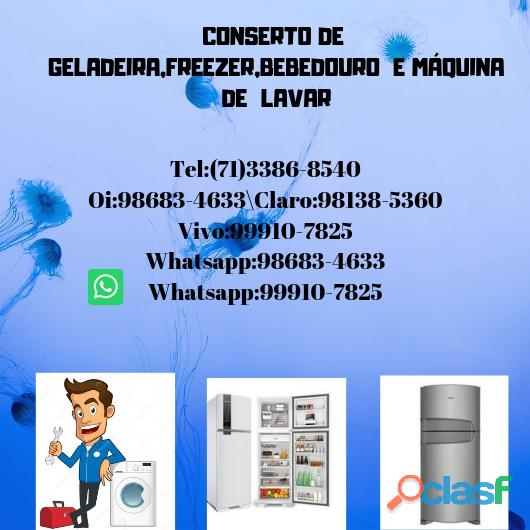 Acdg refrigeração conserto de freezer e máquina de lavar