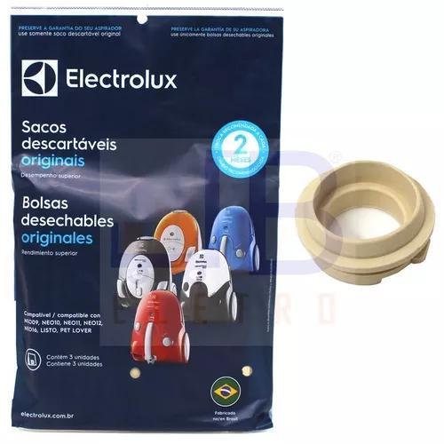 1 borracha vedação + 3 sacos aspirador electrolux neo