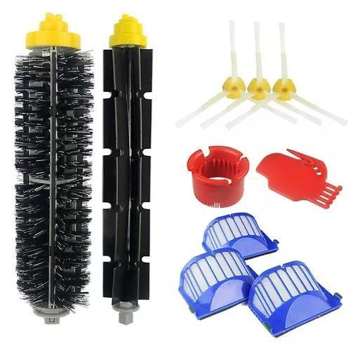 Escovas e filtros compatíveis com roomba 500e600- kit 10