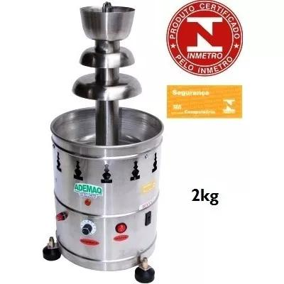 Fonte torre cascata de chocolate 2 kg 110/220v ad