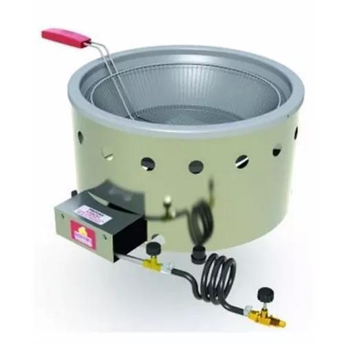 Fritadeira 7 litros a gas tacho aço inoxidável