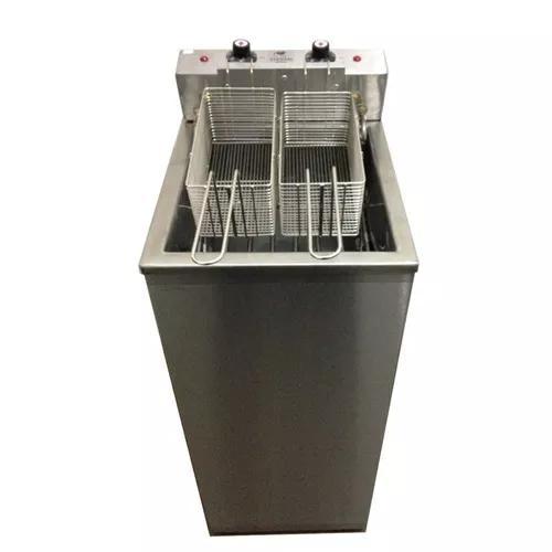 Fritador agua/oleo 20lts 8000w elétrico inox c/ tampa
