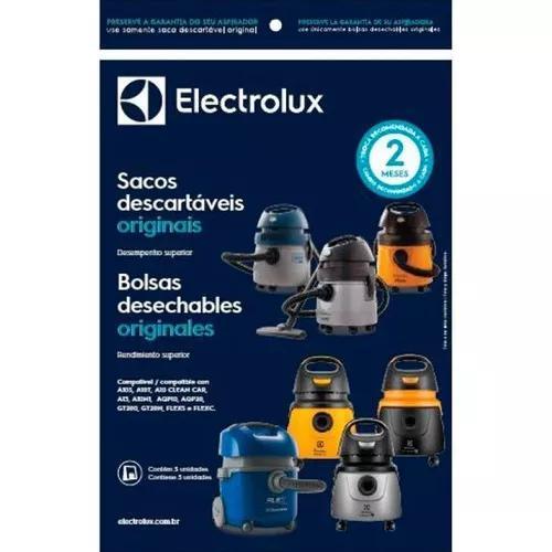 Kit c/ 3 sacos descartáveis aspirador electrolux aqp20