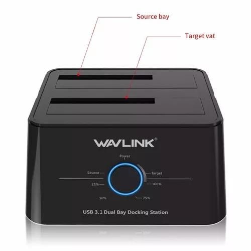 Dock station wavlink usb c 3.1 hd 3.5/2.5 sata ssd clona top