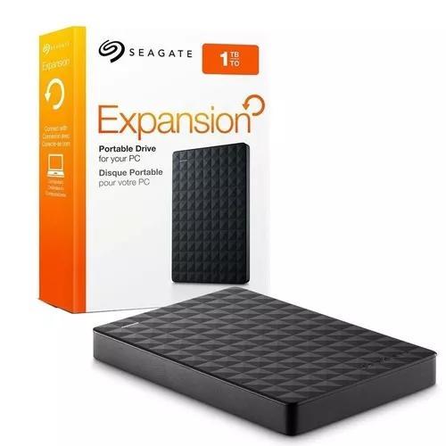 Hd externo 1 tb seagate expansion 2.5 usb 3.0 - preto