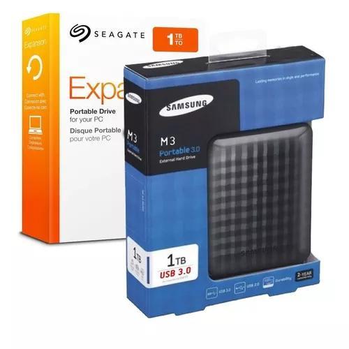 Hd externo portátil seagate 1tb usb 3 top