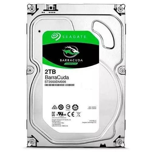 Hd seagate barracuda 2 tera 2000gb 64mb sata 3 6gb/sdesktop