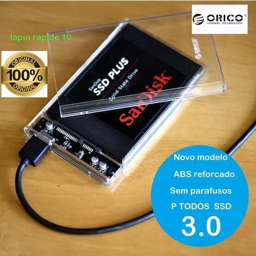 Novo case orico usb 3.0 externo p hd ssd sandisk /kingston