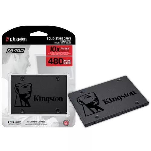 Ssd 480gb kingston a400 sata 3 6gb/s pc notebook novo ssdnow