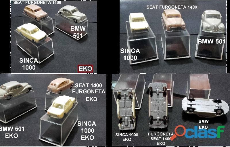 Seis carros eko.raríssimos.made in spain