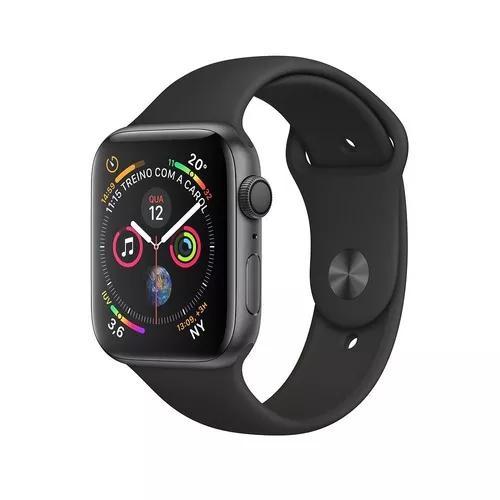 Apple watch s4 series 4 44mm gps novo lacrado nota fiscal