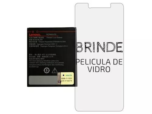c3476957803 Bateria lenovo vibe k5 c2 original + película vidro brinde
