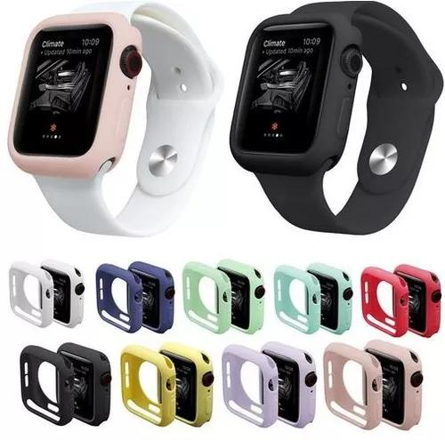 Capa case silicone para apple watch cores 38/40/42/44mm
