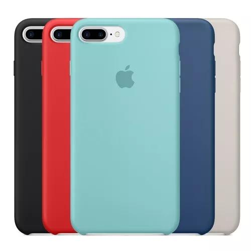 Capa silicone apple iphone xr x xs max 6 6s 7 8 plus + cores